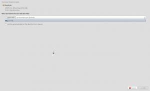Firefox download dialog
